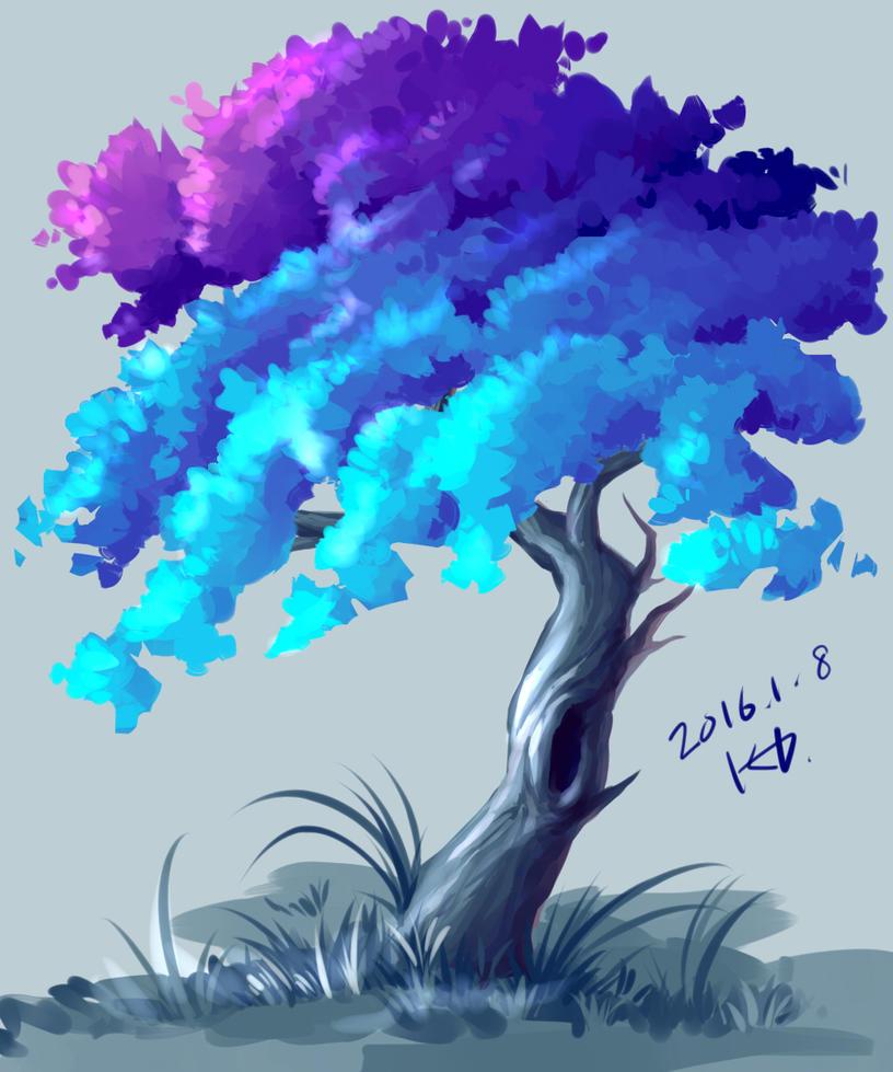 tree pratice2 by FeatheryDragon