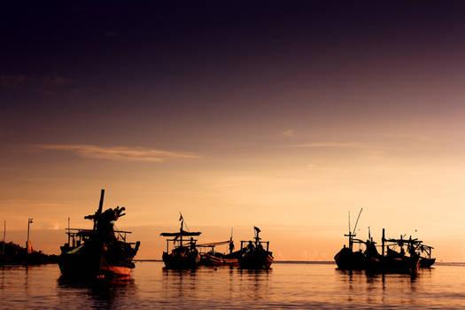 Sunrise at Indonesia