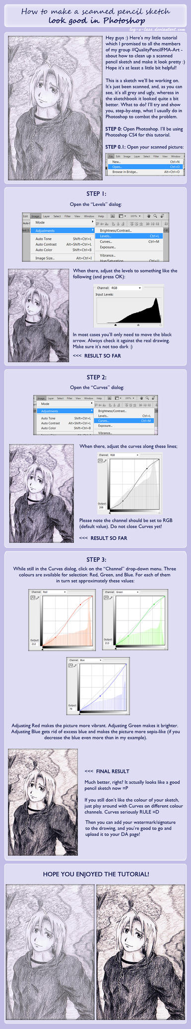 Tutorial: Fixing Up Pencil Sketches by leg-o-lass