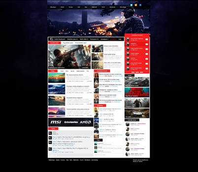 New gaming web design. by keipthount