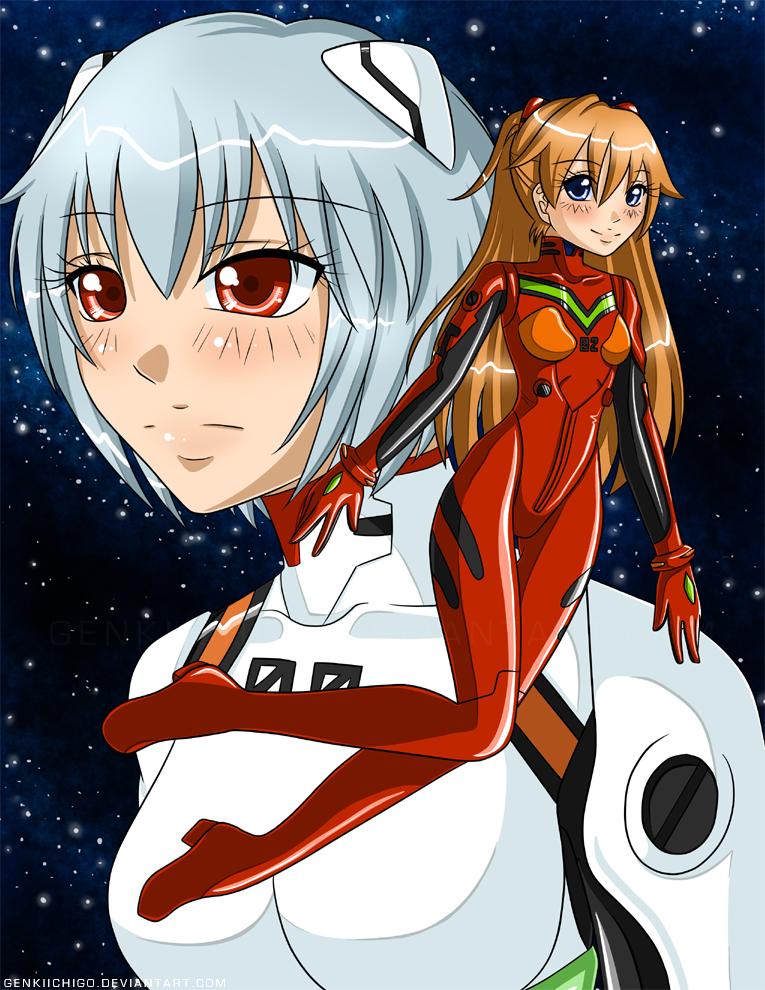 NGE : Asuka and Rei by GenkiIchigo