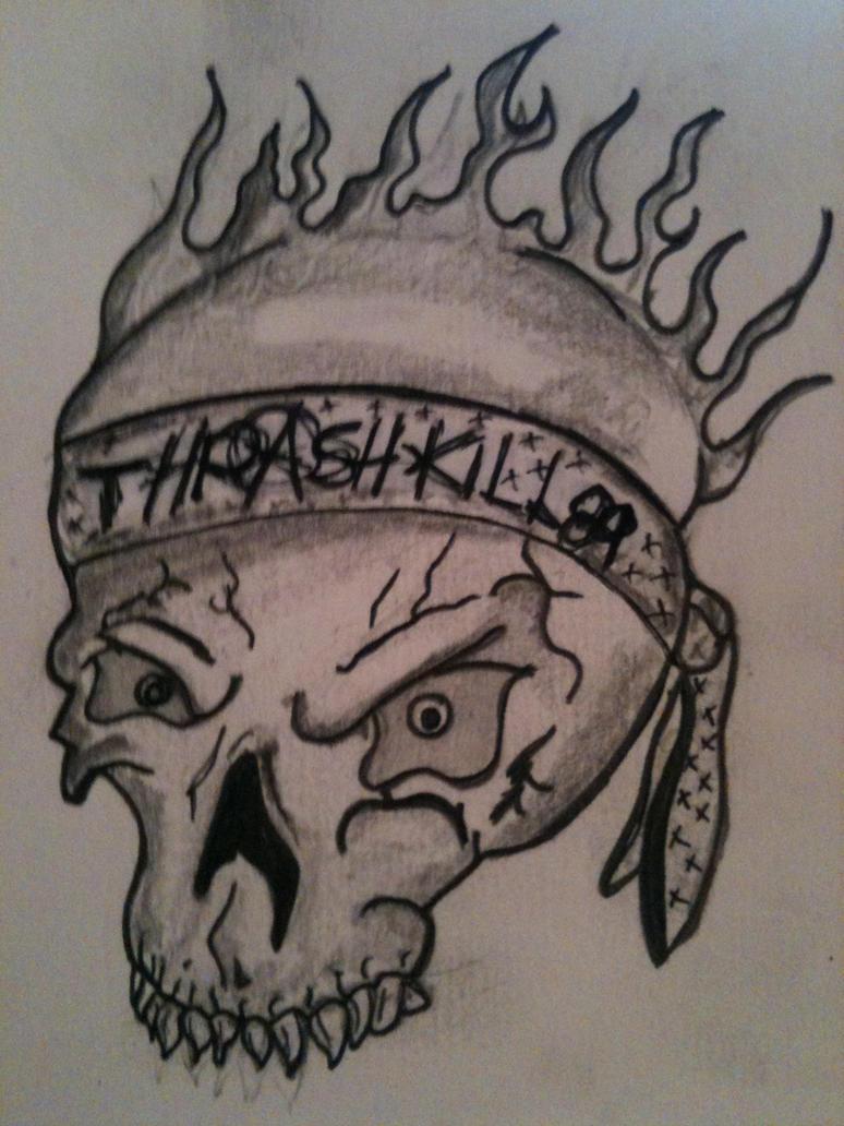 skull by thrashkillmcfly on deviantart. Black Bedroom Furniture Sets. Home Design Ideas