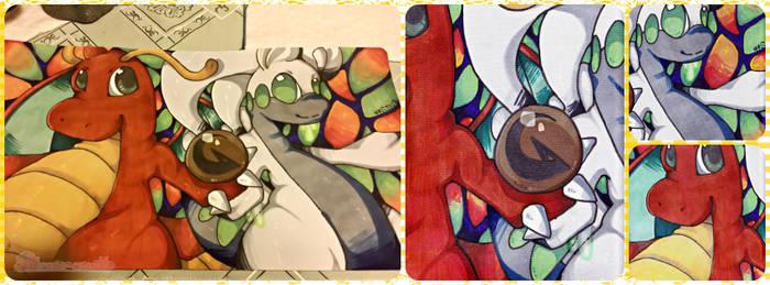 :CM: Dragonite and Goodra playmat
