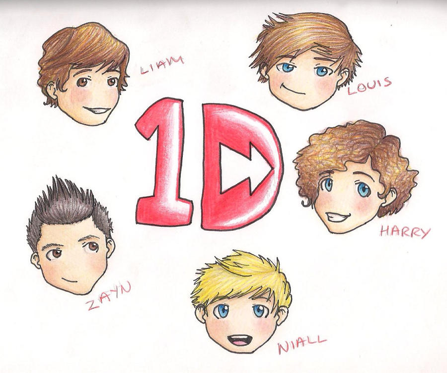 One Direction Chibis by TheMuzbo on DeviantArt