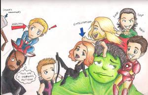Chibi Avengers by TheMuzbo