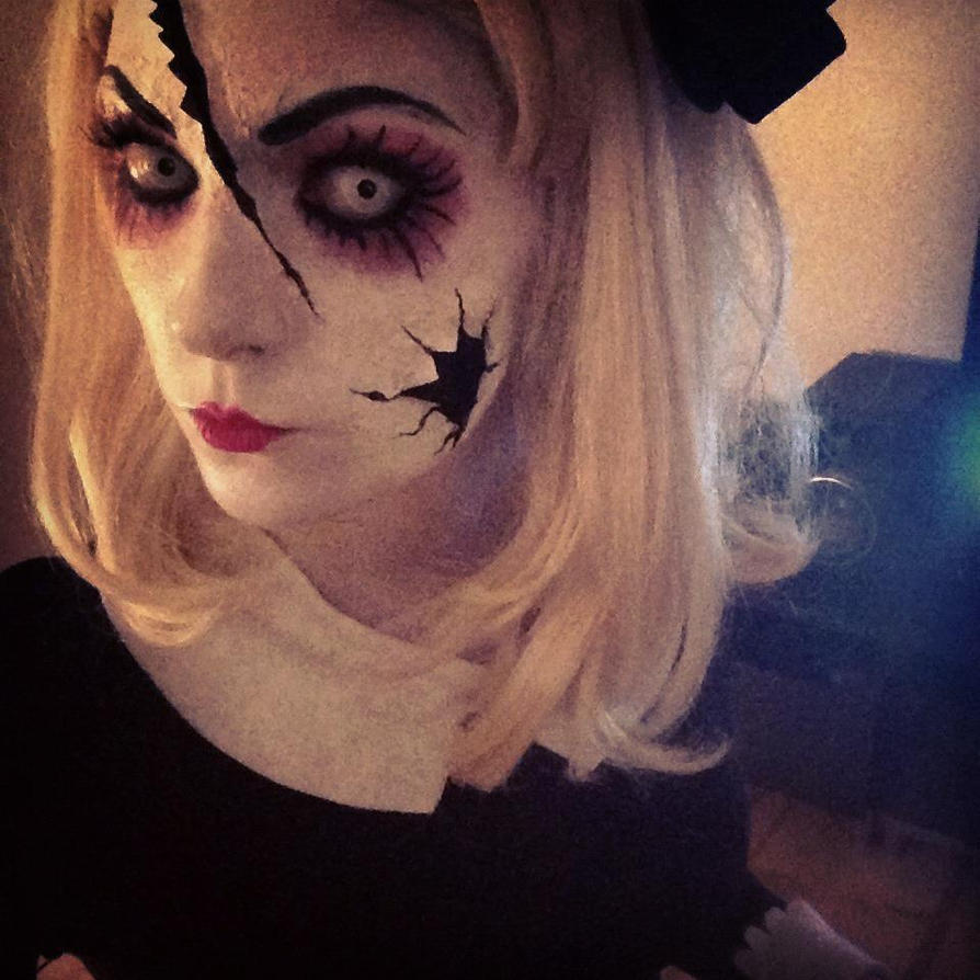 porcelain doll halloween makeup tutorial 62323 | movieweb