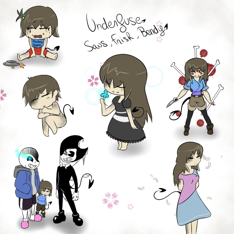 Fusion Frisk Bendy Sans By Shanone-Neko On DeviantArt