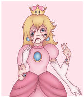 Peaches painful power-up by LovelyLaurenArts