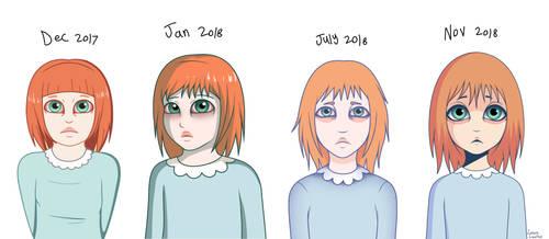 Penelope design progress by LovelyLaurenArts