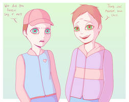 Chav and Scally by LovelyLaurenArts