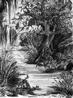 city on a tree sketch by stabbedwithacarrot