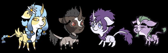 Wildling Chibis: First Batch! by Catnipfairy