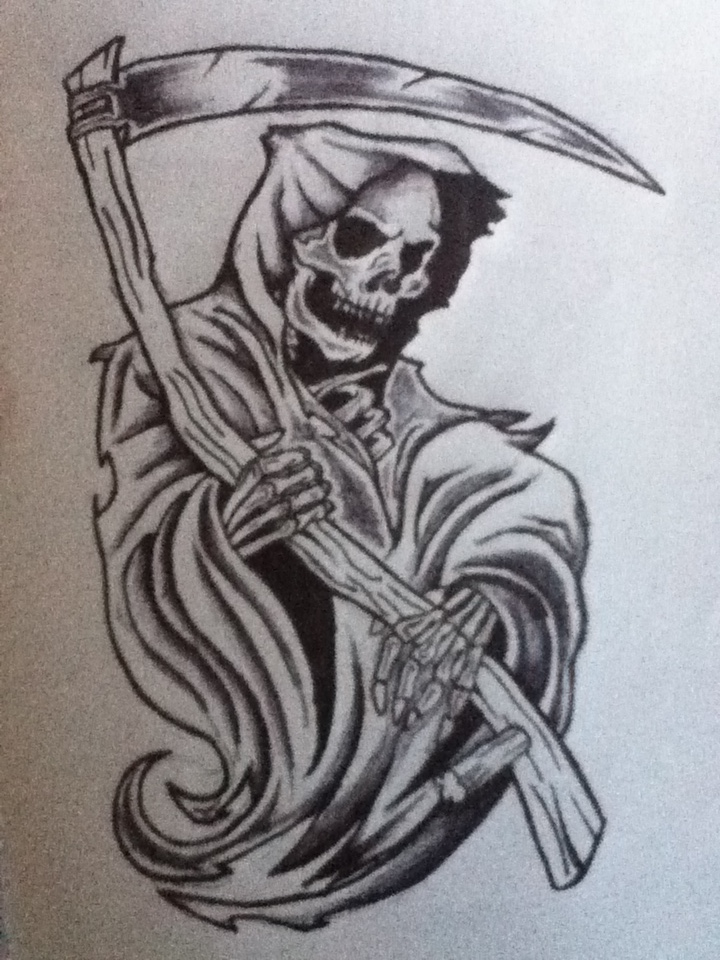 Grim Reaper Sketch by NitroInjected on DeviantArt