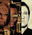 Star Trek - Worf, Geordi, Data