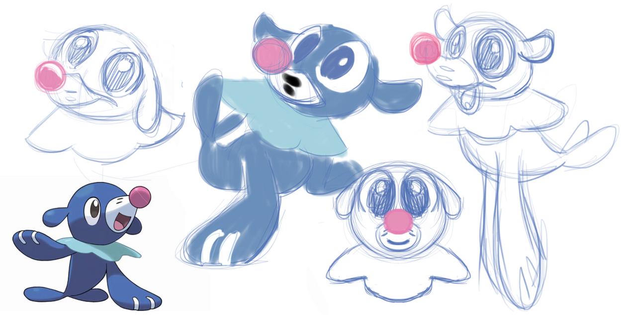 popplio sketchs by fluffyartpop