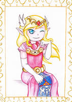 Toon Zelda by kurobas