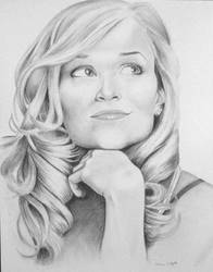 Witherspoon by mdelgado76 by PortraitPencilArt