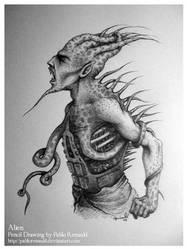 Alien by pablorenauld by PortraitPencilArt