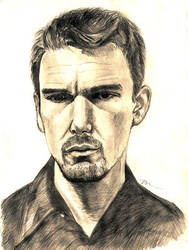 Ethan Hawke by ThomasChien by PortraitPencilArt
