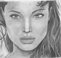 Angelina Jolie by abdka5 by PortraitPencilArt
