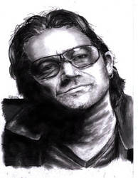 Bono by Peanut0565 by PortraitPencilArt