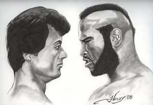 Heavyweight Hungry: westernman by PortraitPencilArt