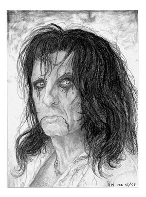 Alice Cooper by Itsmerick by PortraitPencilArt