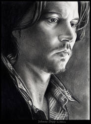 Depp thoughts II by nabey by PortraitPencilArt