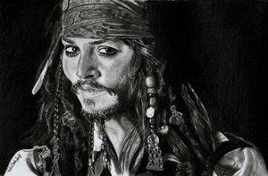 Captain Jack by trickyvicky... by PortraitPencilArt