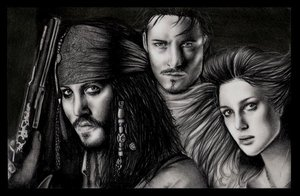 Pirates of the C... by yana182 by PortraitPencilArt