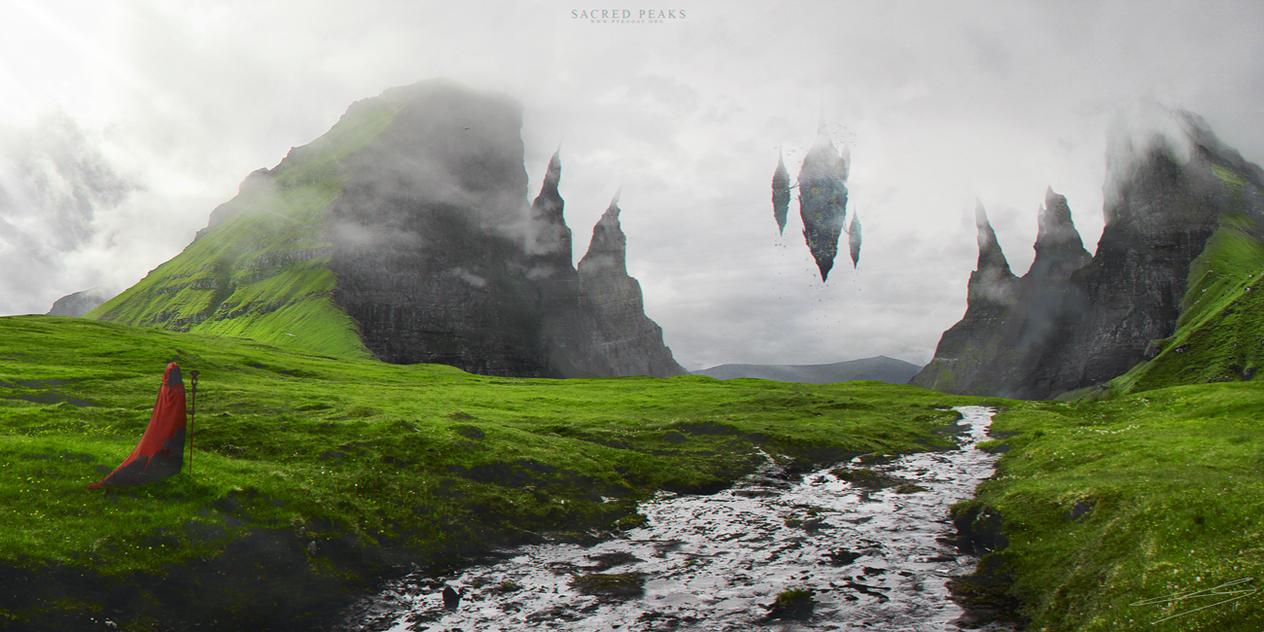 Sacred Peaks by Pyrogas-Artworks