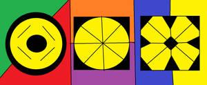 All Superheroes Gods Symbol by Kevincarlsmith