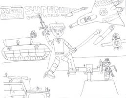 Mega bolks superheroes world earth gods by Kevincarlsmith