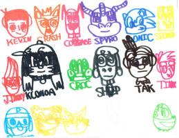 superheroes origin the heroes friends by Kevincarlsmith