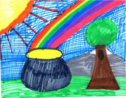 pot of gold for green st Patrick day by Kevincarlsmith