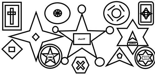 Badge Or Star Shooter Or Dish Or Card by Kevincarlsmith