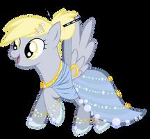 Gala Dress Derpy by ForeshadowART