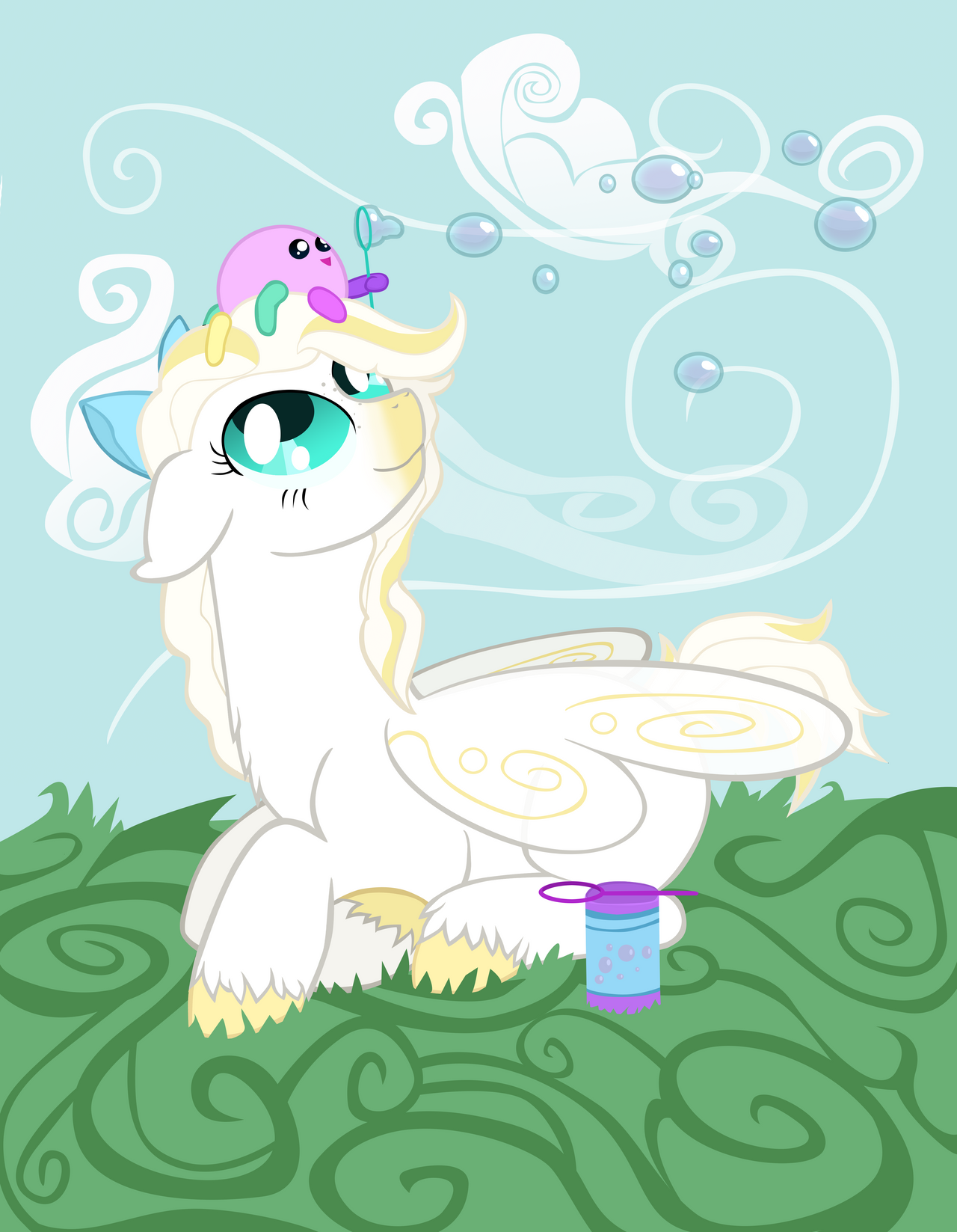 Request: Purity and Squidgy's Windy Afternoon by ForeshadowART