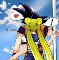 GokuxUsagi What are you doing here? by KiaSimo