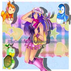 SPEEDPAINT Pokemon Trainer Hikari/Pearl by KiaSimo