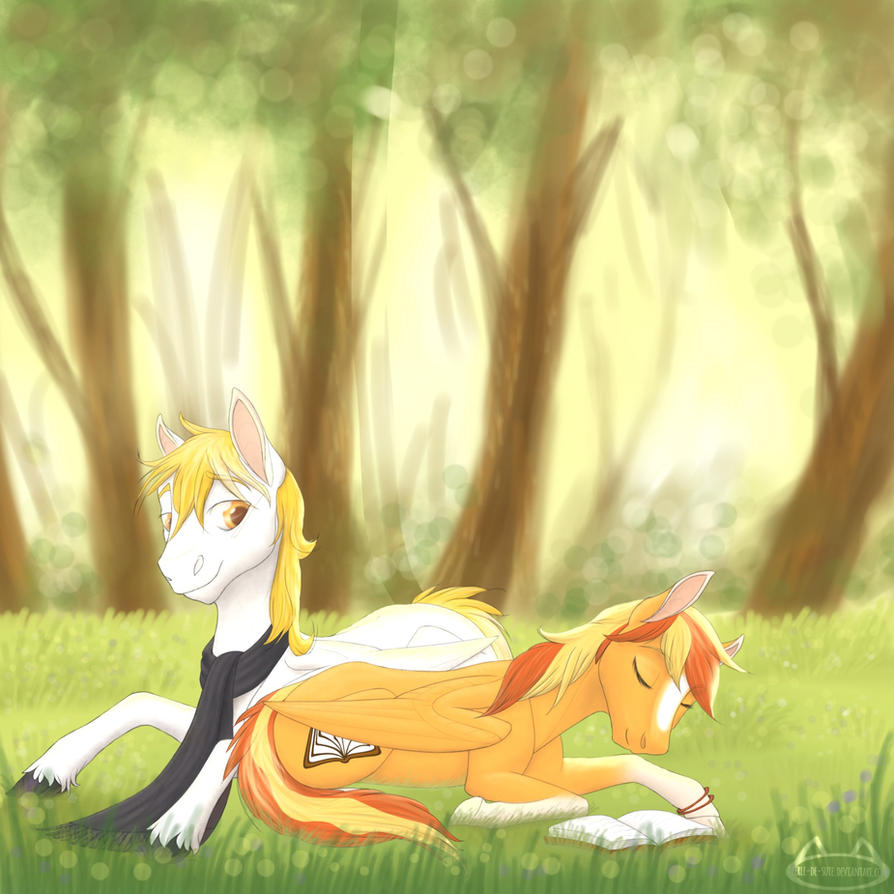 Serenity et White Feather (commission) par Perle-de-Suie