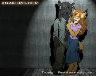 Anakuro Wallpaper by Kuro-Mori