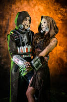 Scarecrow couple Batman by TheDeska