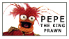 Pepe the King Prawn Stamp by rawien
