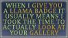Llama Badge Stamp by rawien