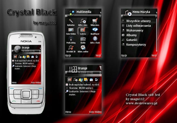 Crystal Black Theme S60 3rd by magu112