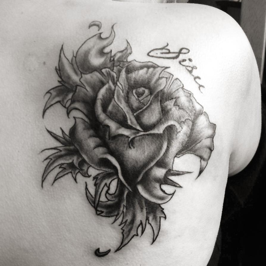 sisu rose tattoo by siirisisu on deviantart. Black Bedroom Furniture Sets. Home Design Ideas
