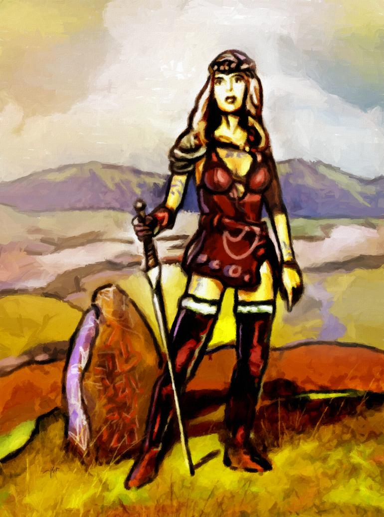 celtic warrior woman drawings celtic woman warrior by art ...