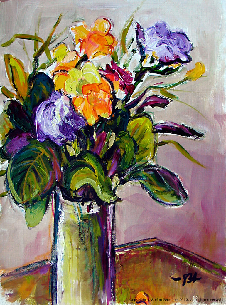 Freesia Still-Life by boettcherART