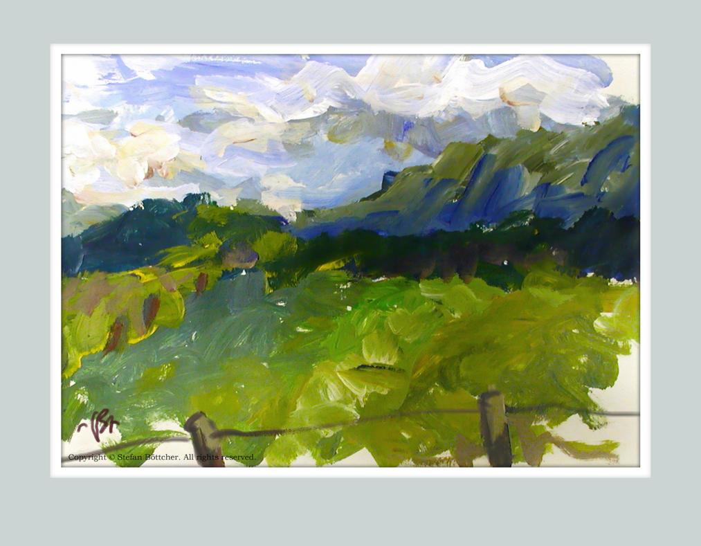 Landscape near Schlehdorf by boettcherART